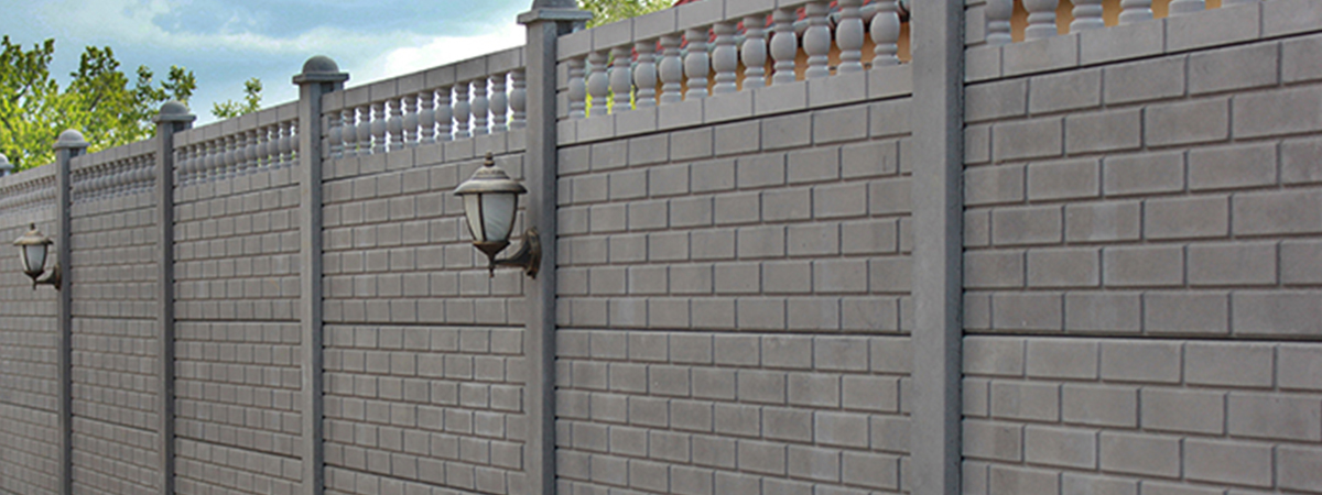 betonkerítés téglamintás anntracit